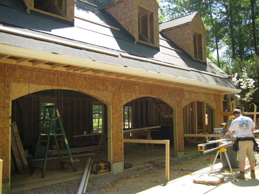 Doorway arches and exterior trim installation