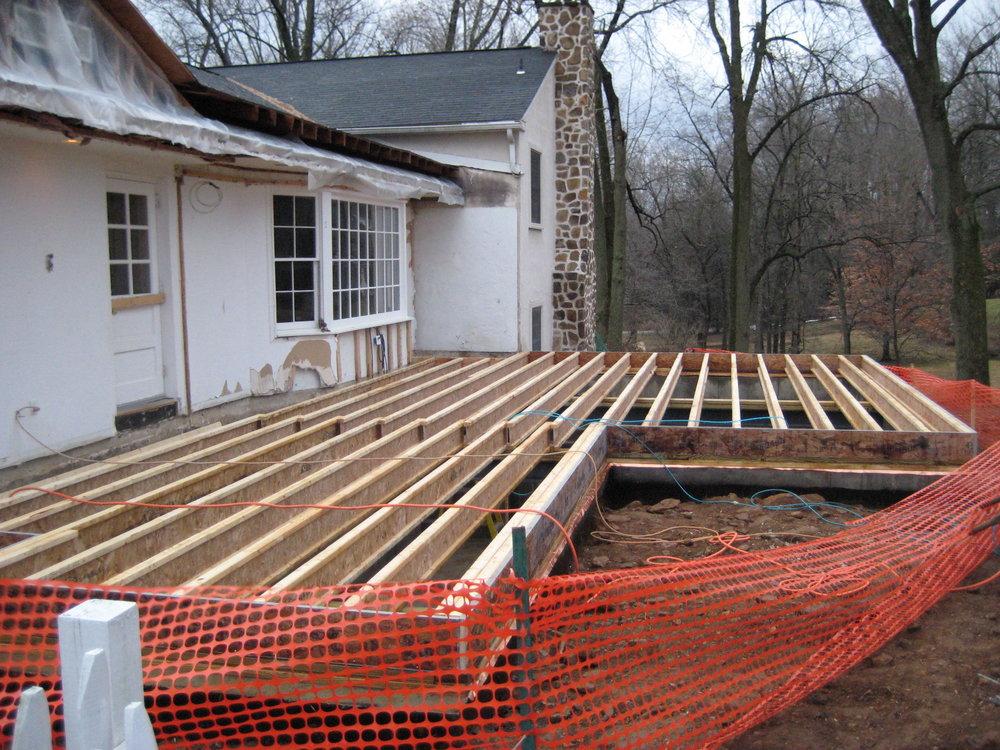 Floor deck installed