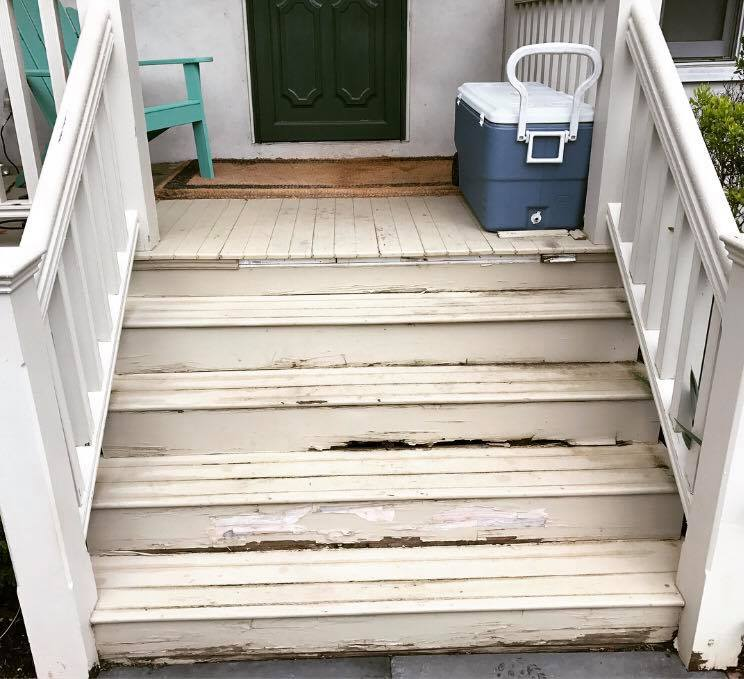 This job came to me from a client who was having a wedding reception at their home and were concerned about their existing staircase. The treads and risers had rotted out over the years and needed to be replaced. I suggested ipe for the job for its durability and rot-resistance.