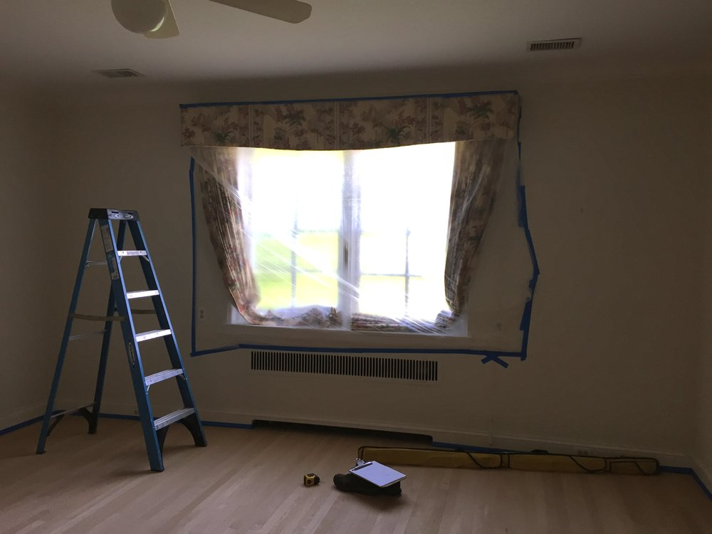 Before picture of the room. Due to a lack of storage in this 100+ year-old Gladwyne home, the client requested two large closet cabinets along with drawer bases and upper cabinets for additional storage, as well as a window seat for their daughter's room.