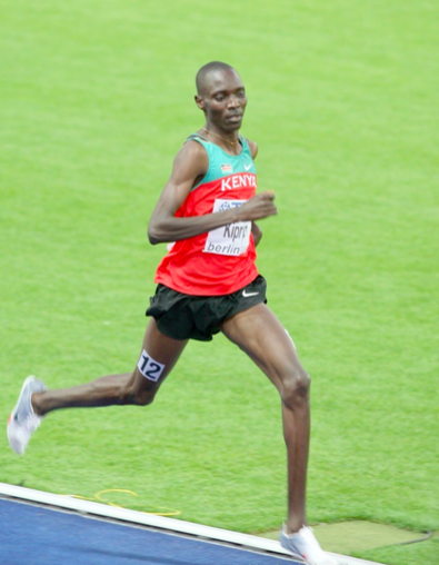 Figure 5: The great Asbel Kiprop striding it out. Look at those legs! Look at that stride length! What a specimen.