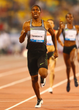 Figure 7: Caster Semenya looking absolutely imperious, coasting to victory at the Doha Diamond League in a very impressive time of 1:58.26.
