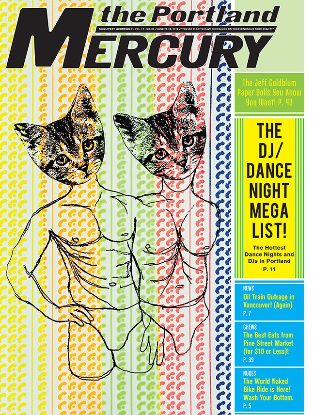 Portland Mercury cover ,June 22, 2016 Read interview here:  PORTLAND MERCURY