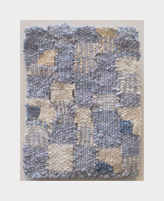 JUNE COVINGTON Cloudy sky, 2015-2017 Silk and cotton 6 1/2 × 5 1/2 in; 16.5 × 14 cm  #uniquework #junecovington #cloudysky #warm #coldnight #silkandcotton #smallwork #texassky #womanartist #textile_art #arte #arto #blue #woven_artwork #fineart #artoftextiles #jenmauldingallery @jen.mauldin.gallery #grandmagift #warmyourhome #woven #giftsforher  https://www.artsy.net/artwork/june-covington-cloudy-sky