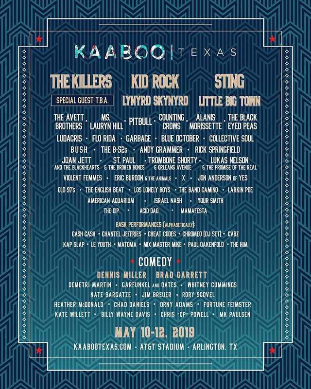 We hope to see you at #attstadium in May for #kaabootexas as @jenmauldingallery is one of the art exhibitors for this #music #comedy #art and #cuisine festival that is an adult escape.  #musicfestival #kaaboo #kaabooartwork #artcurators #dallasgallery #sting #alanismorissette #thekillers #cowboysstadium #festivallineup #contemporaryart #plusmore