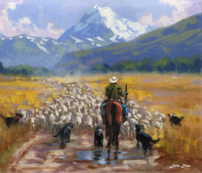 Fig. 6 - Mustering - Mount Cook Station         by Livia Dias