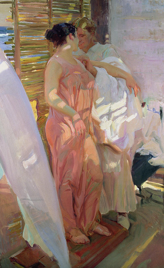 After the Bath - by Sorolla