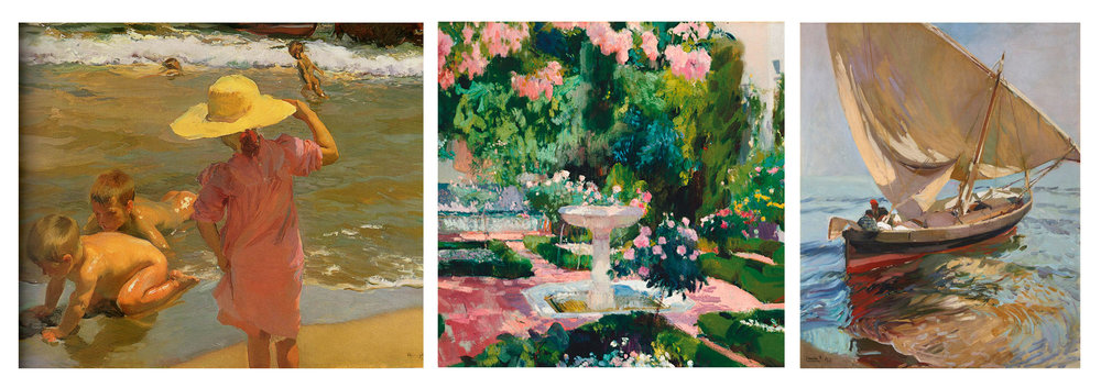 Paintings by Joaquin Sorolla