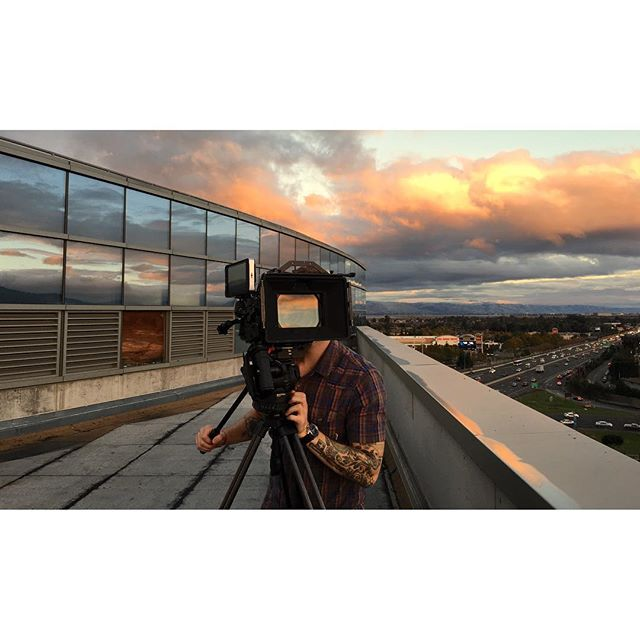 My get-up for Halloween this year: Skyface. Thanks @aheppler for the snap . . . . . #werehaus #4seasons #bayarea #videoproduction #production #bts #ursamini46k #zeiss #smallhd #chrosziel #rooftop #skies #clouds #cloudporn