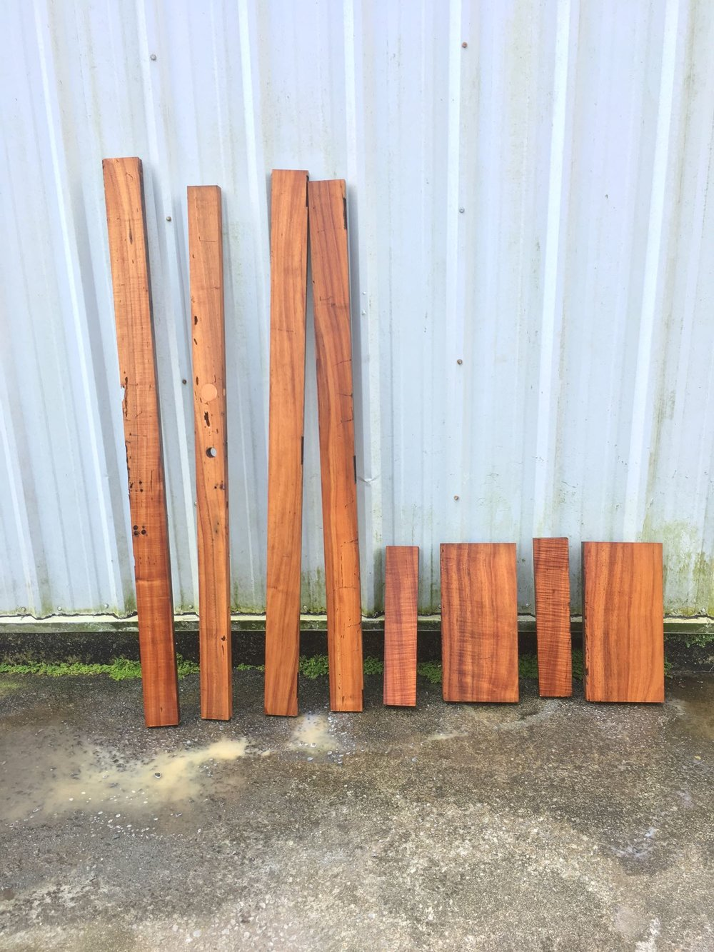 Old koa doors.