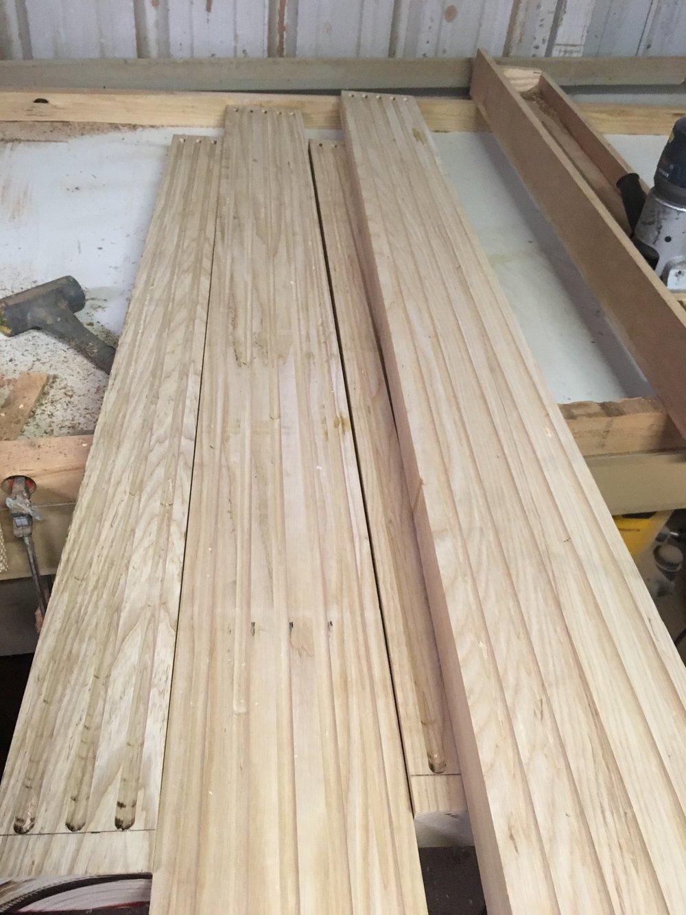 Ash bed parts. -