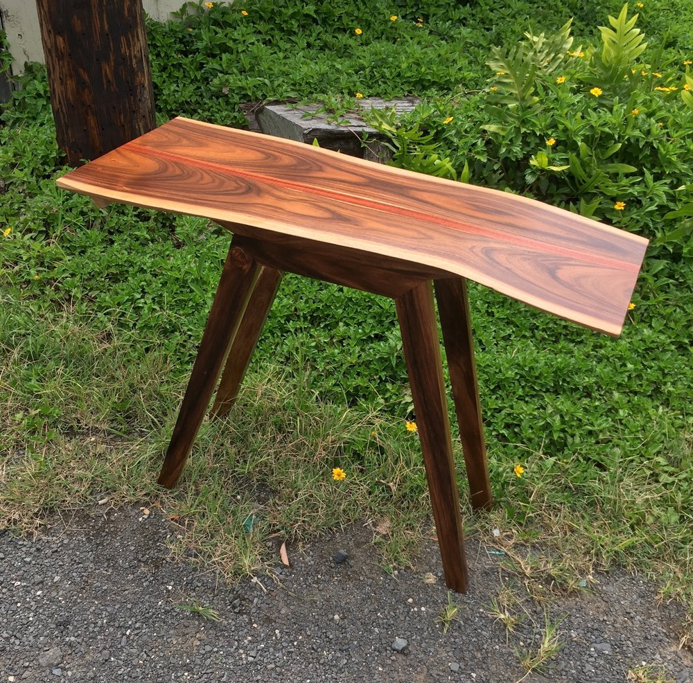 Formosa Koa and Monkeypod Entry Table