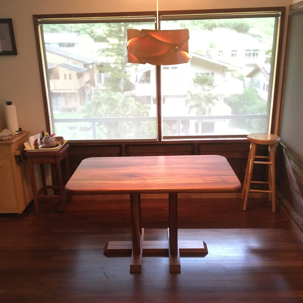 Koa kitchen table