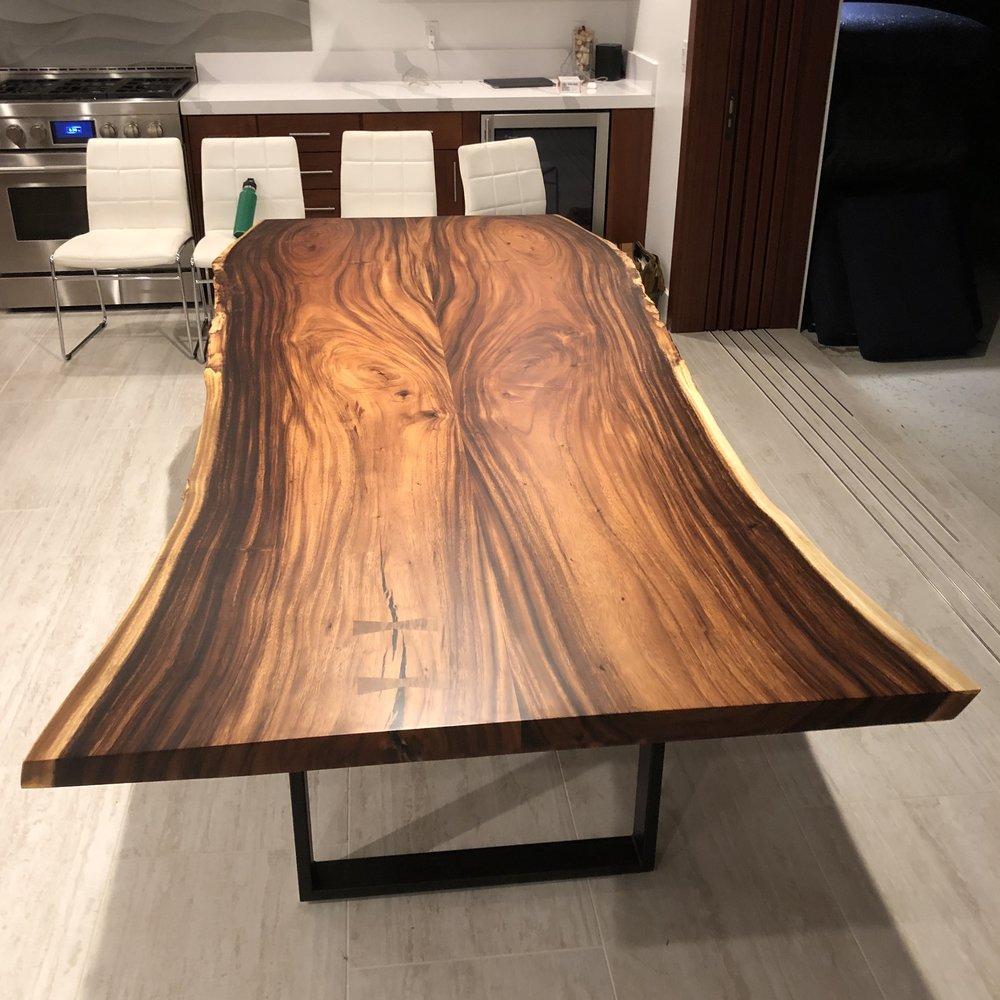 monkeypod slab bookmatch dining table 4.jpg