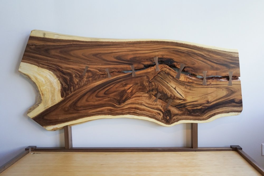 Mother nature's art, held together by a little traditional woodworking.