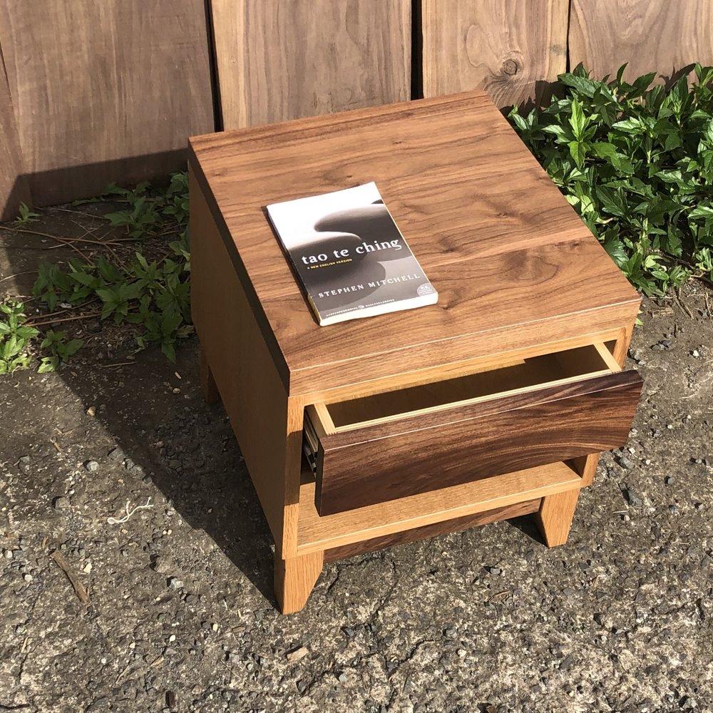 oak and walnut bedside table _top.jpg