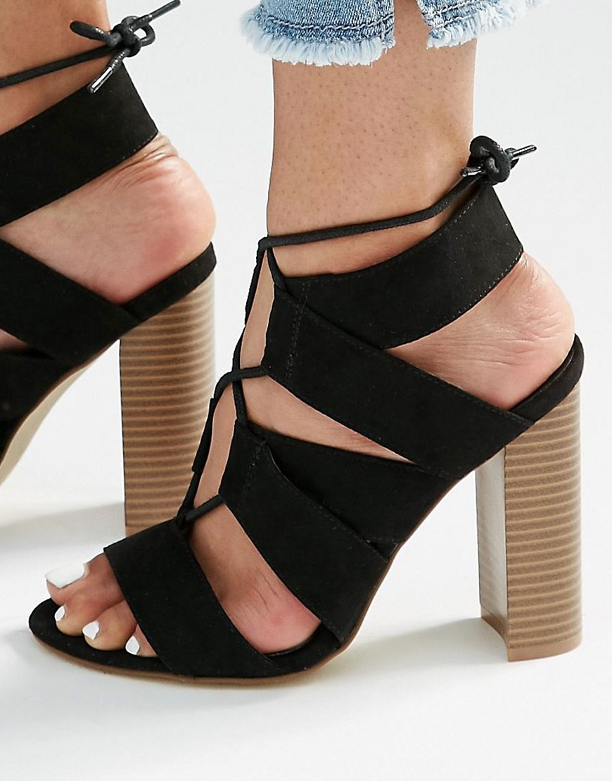 NEW LOOK | LACE UP BLOCK SANDAL