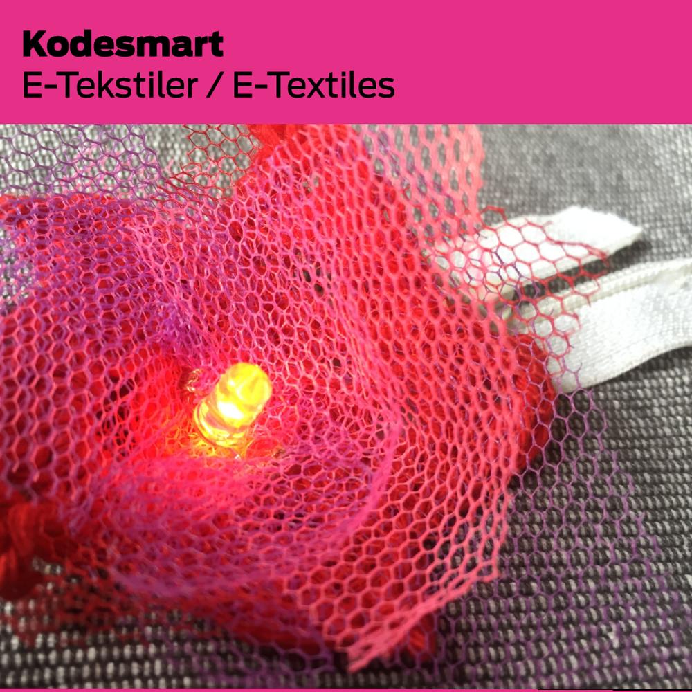 Kodesmart (DK): E-tekstiler / E-Textiles