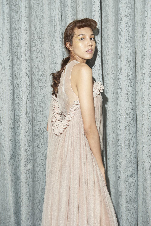 Ruffled Tulle Dress