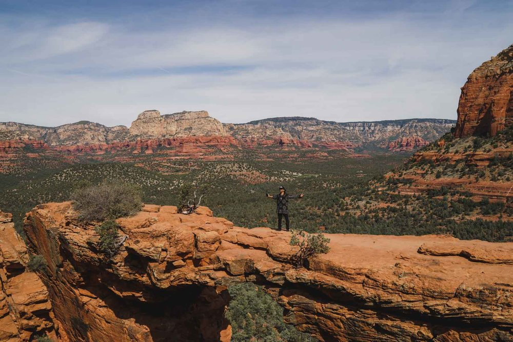 Devils Bridge Sedona Arizona Modeled by Aaron Wiggins  Photo by Jas Gold Jason Goldsmith Shot with Sony A7ii and Carl Zeiss 35 1.4