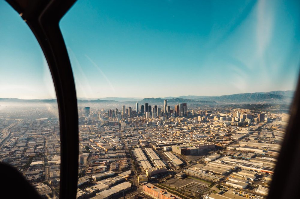 Downtown Los Angeles, California Helicopter Tour Photo by Jas Gold Jason Goldsmith
