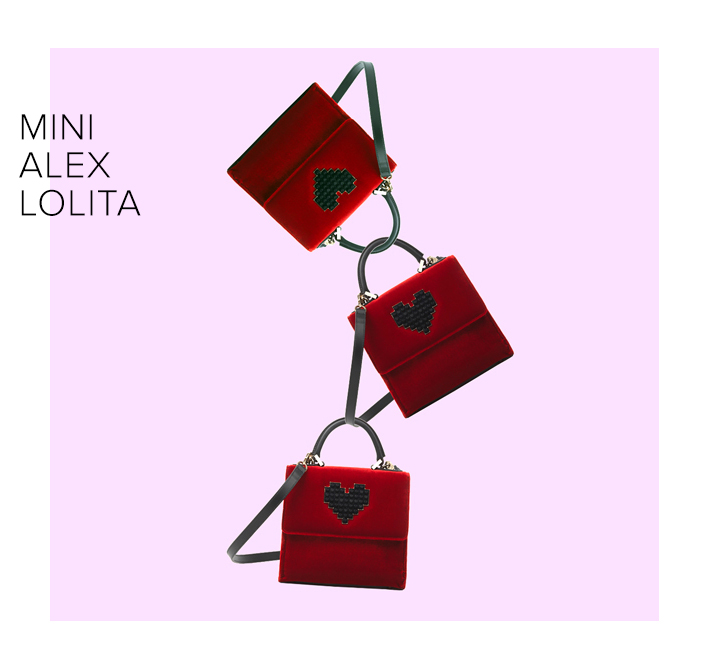 red bag with heart, love bag, les petits joueurs
