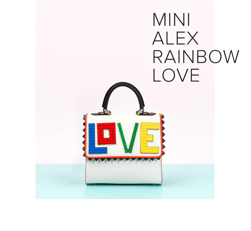 les petits joueurs, rainbow love, statement bag