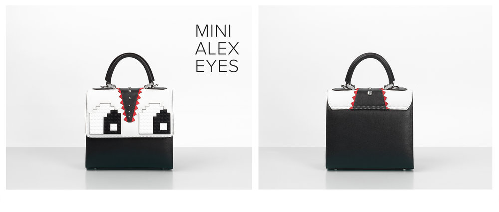 les petits joueurs bag with eyes, trend bag
