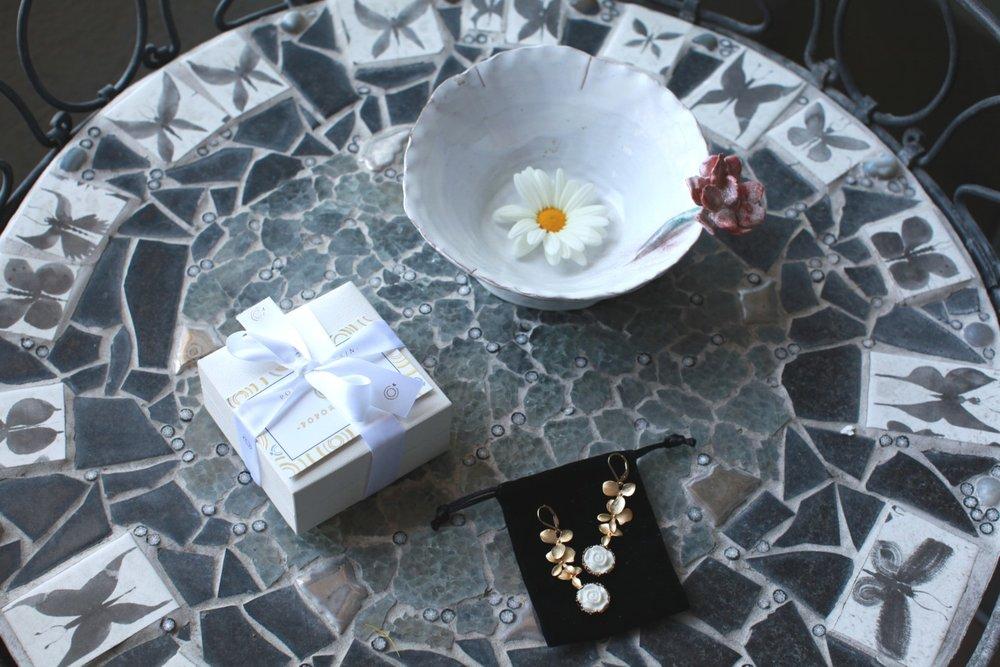 Poporcelain handmade porcelain jewelry form a Danish designer
