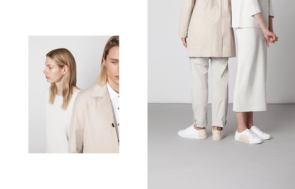 Minimalistic design sneakers from an emerging brand