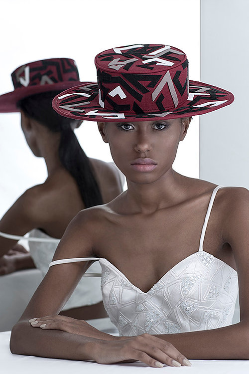 emerging brazilian designer embroidered hats