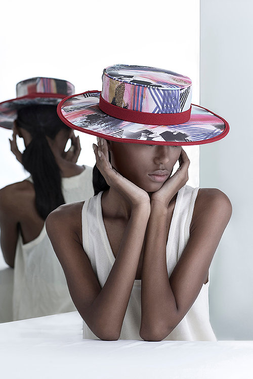 colorful hat handmade Bruna Abreu