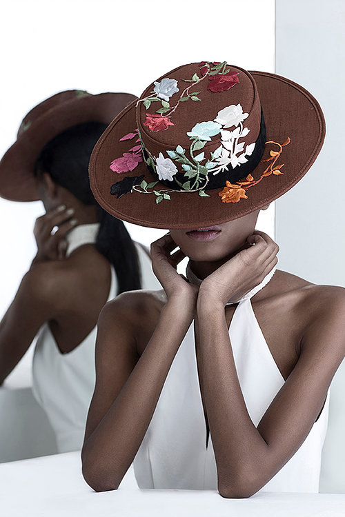 flower embroidered hat handmade emerging fashion