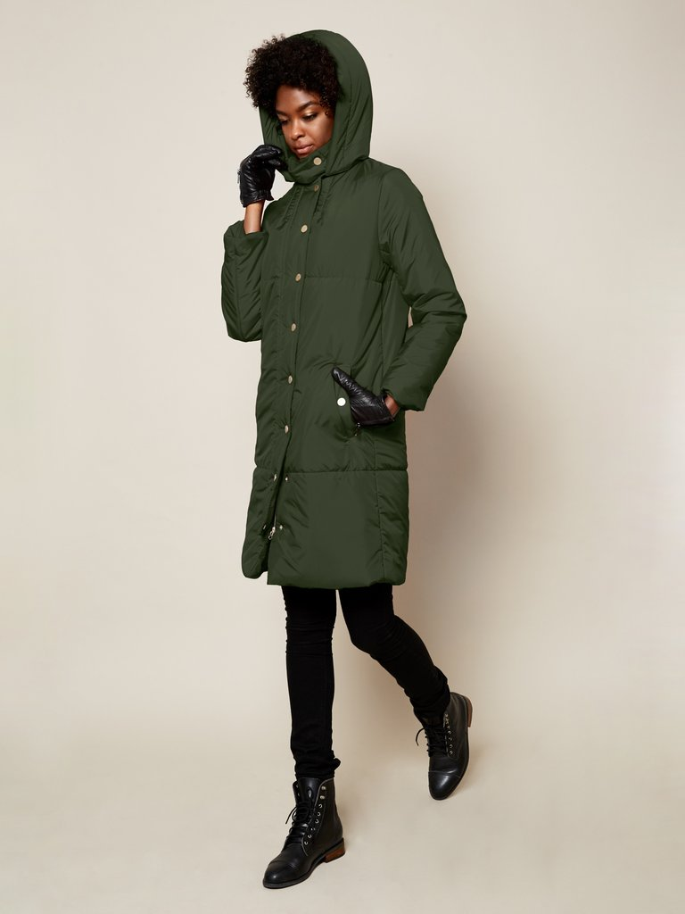 vegan fashion brand snow coat