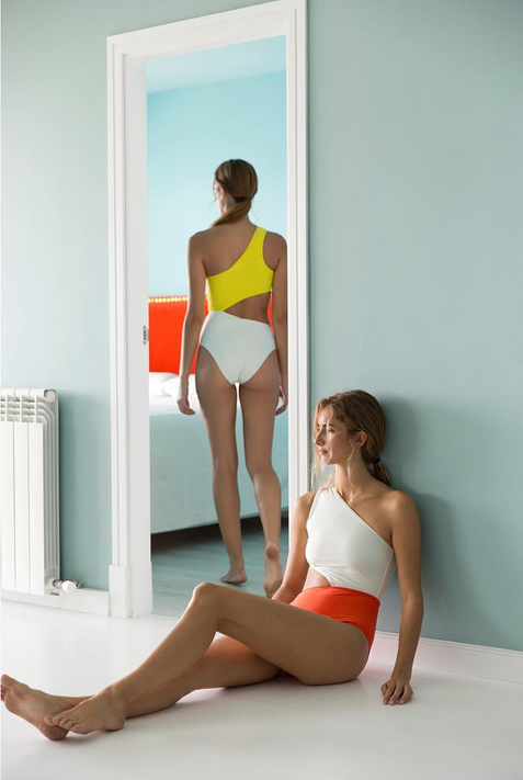 color blocking swimsuits with cutouts ethical fashion