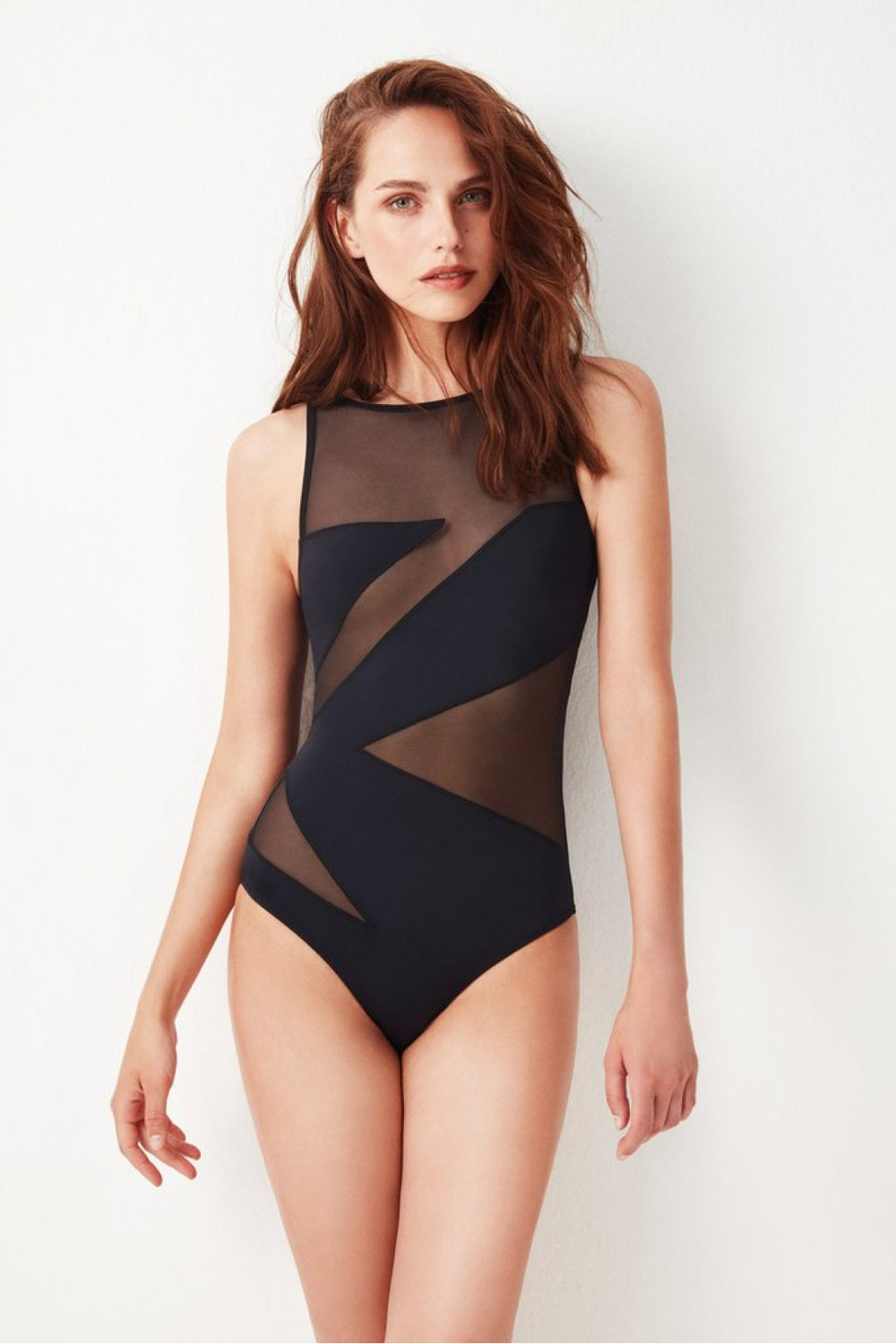 ethical swimswear swimsuit with mesh