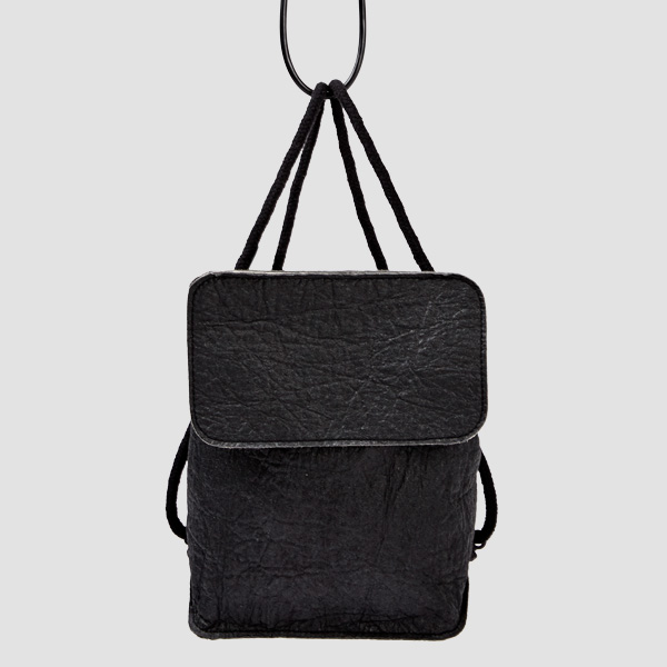 Minimalistic backpack made of sustainable material