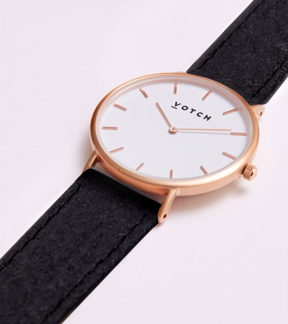 Votch watches ethical fashion watch brand vegan straps