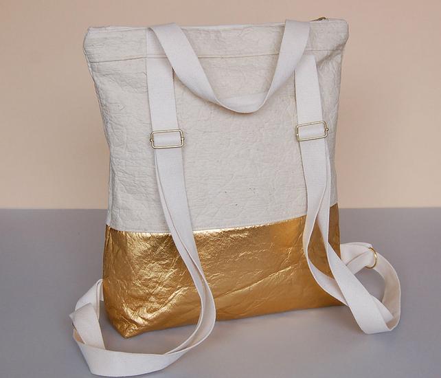 Pinatex backpack gold natural vegan