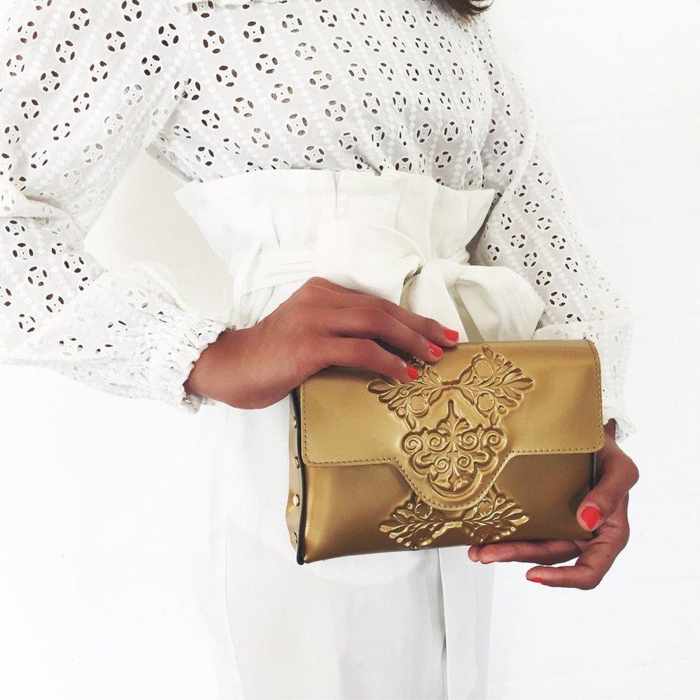 Vegan bag in gold - ethical fashion