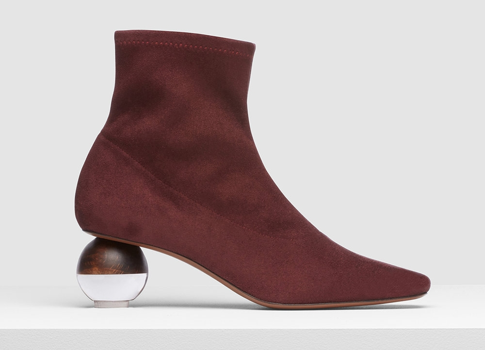 statement ankle boots by neous with spheric heel ethical fashion