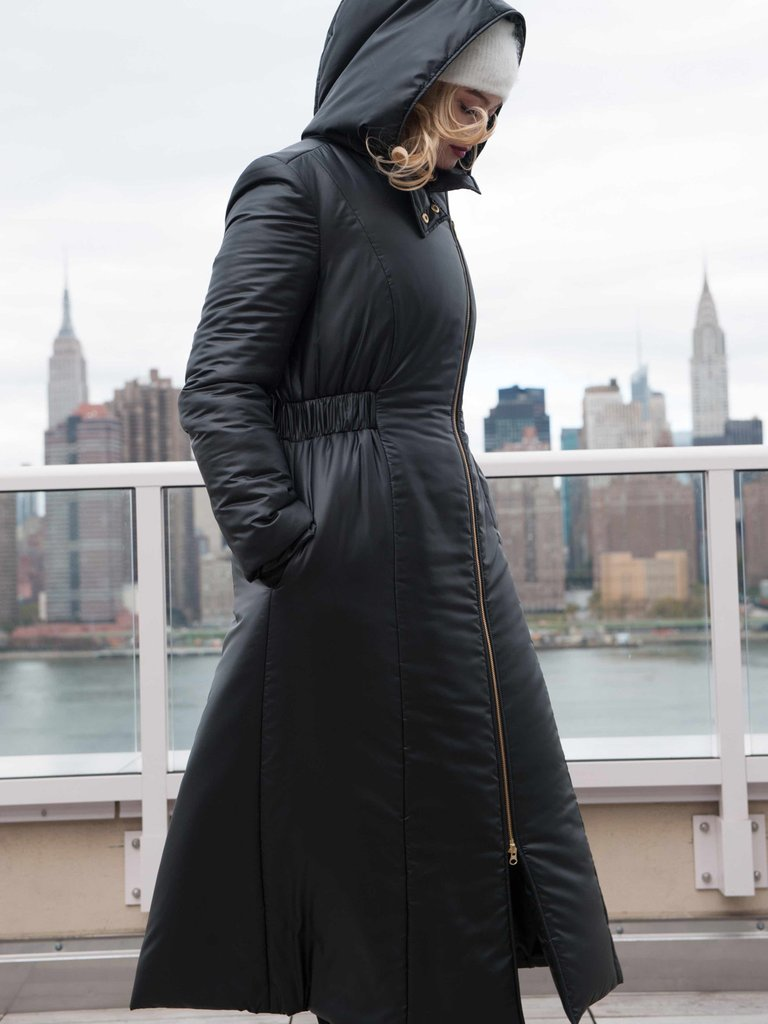 coat made with recycled material