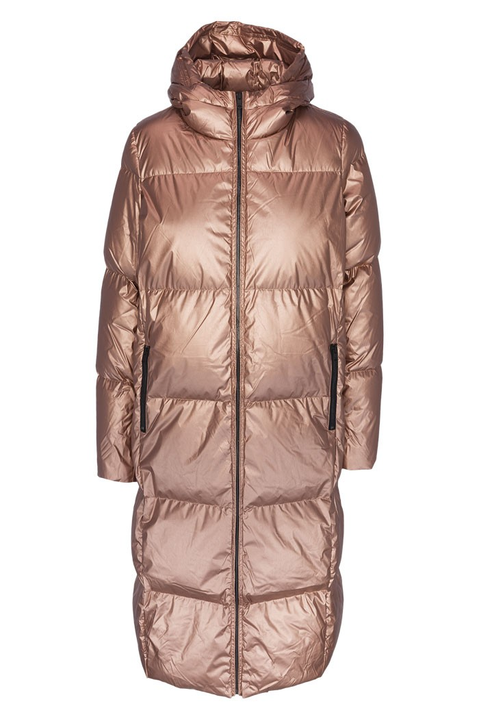 sustainable coat insulated with primaloft