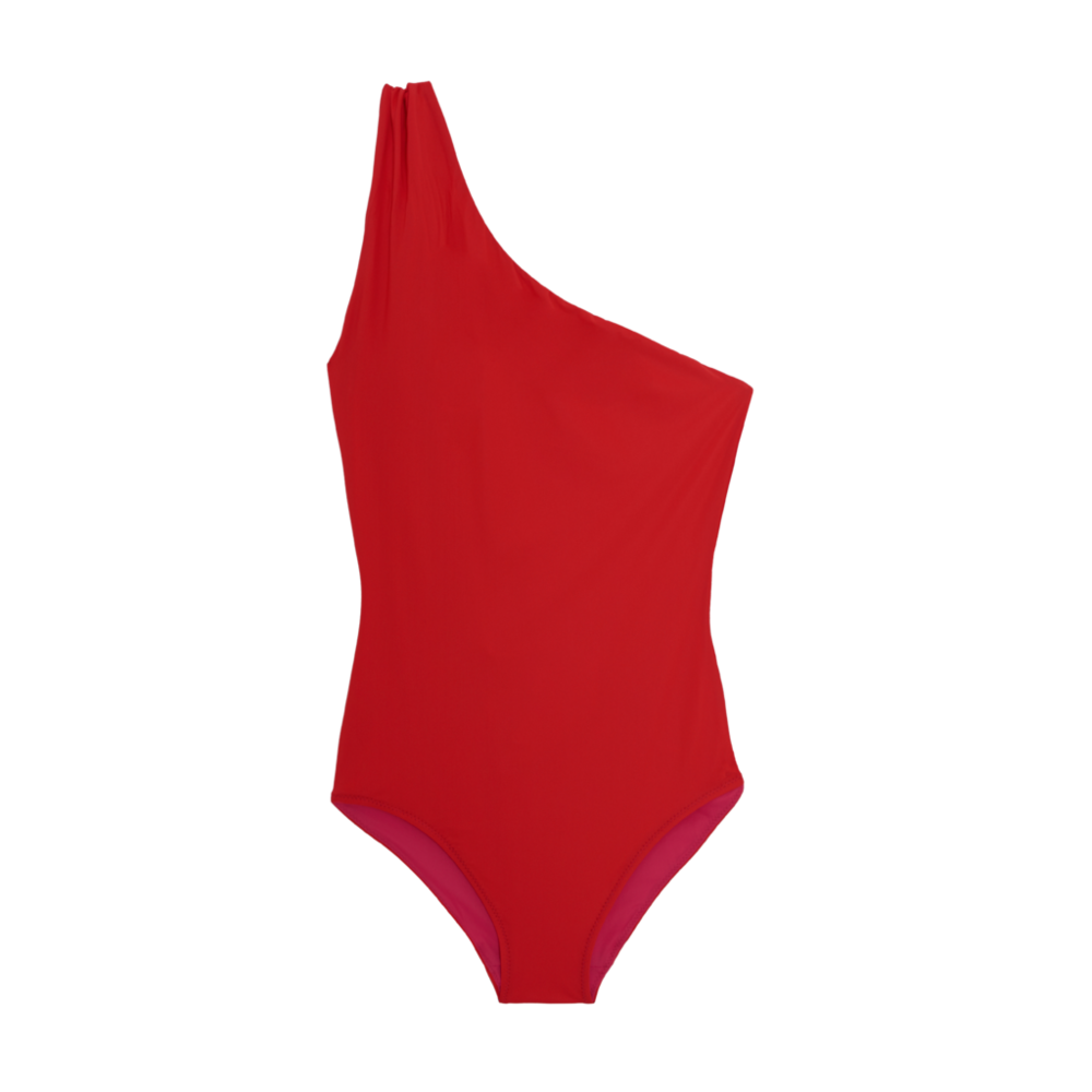 Ethical swimsuit in red