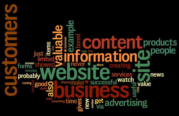 "A Wordle of startups.co.uk's article ""What makes a good website?"""