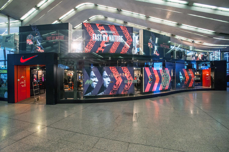 5bb7da2cd2 Nike Stores Branding - Mercurial Launch - Roma Termini — OASI Allestimenti  Fieristici | Exhibit Services