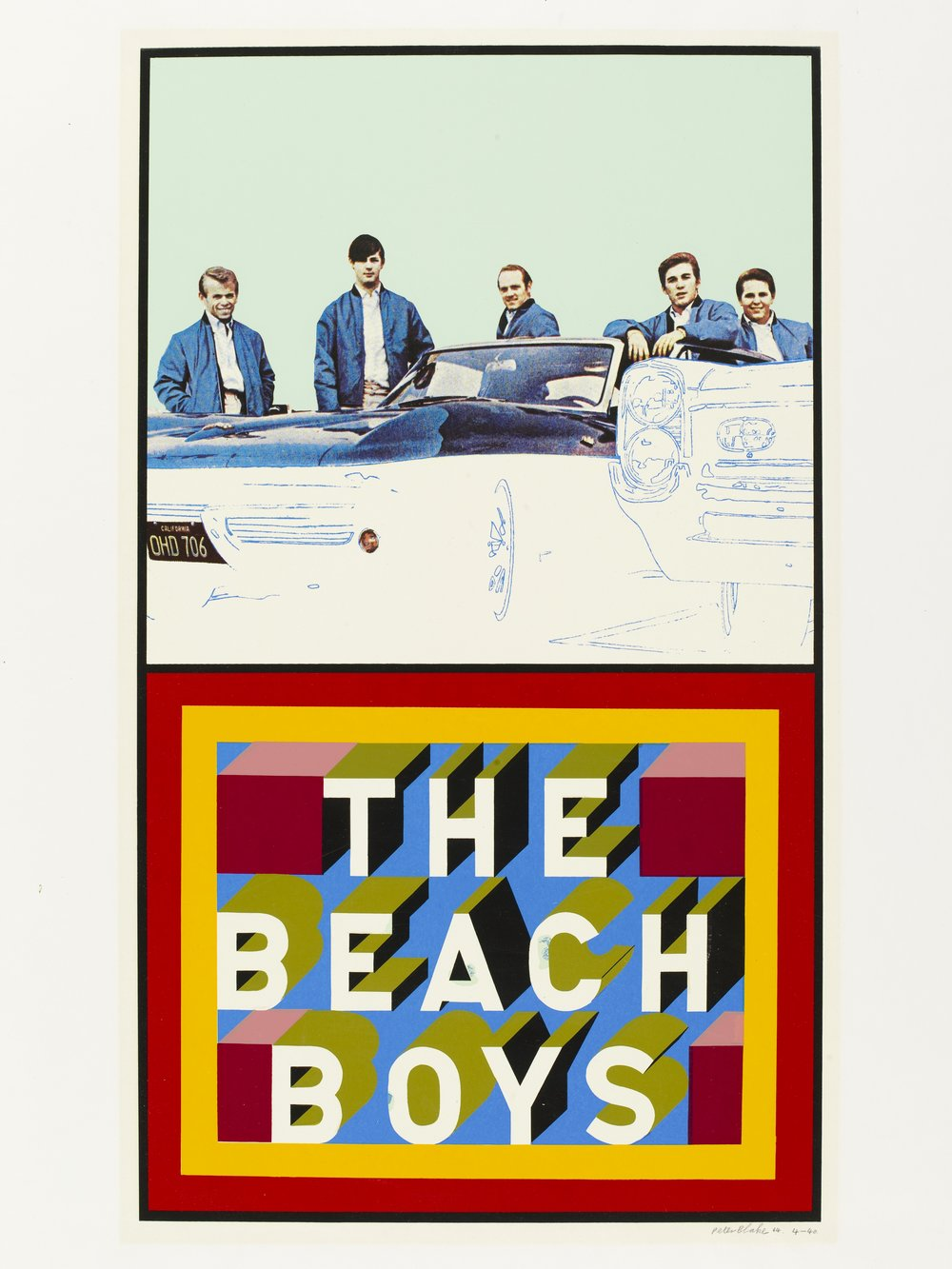 Peter Blake: The Beach Boys, 1964. Screen print | Circ.377-1965 | ©Peter Blake 2016. All rights reserved, DACS