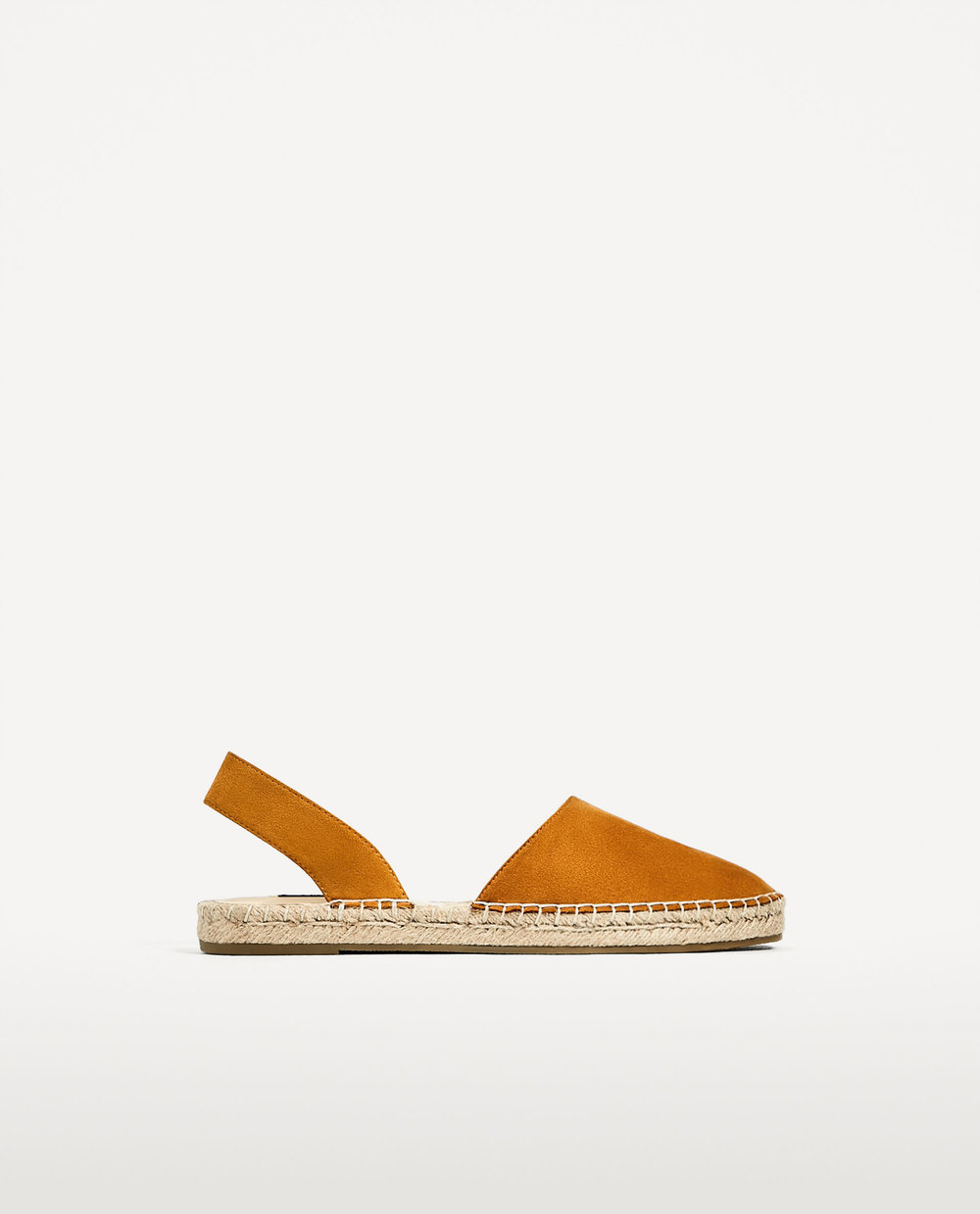 Zara: slingback espadrilles, £19.99