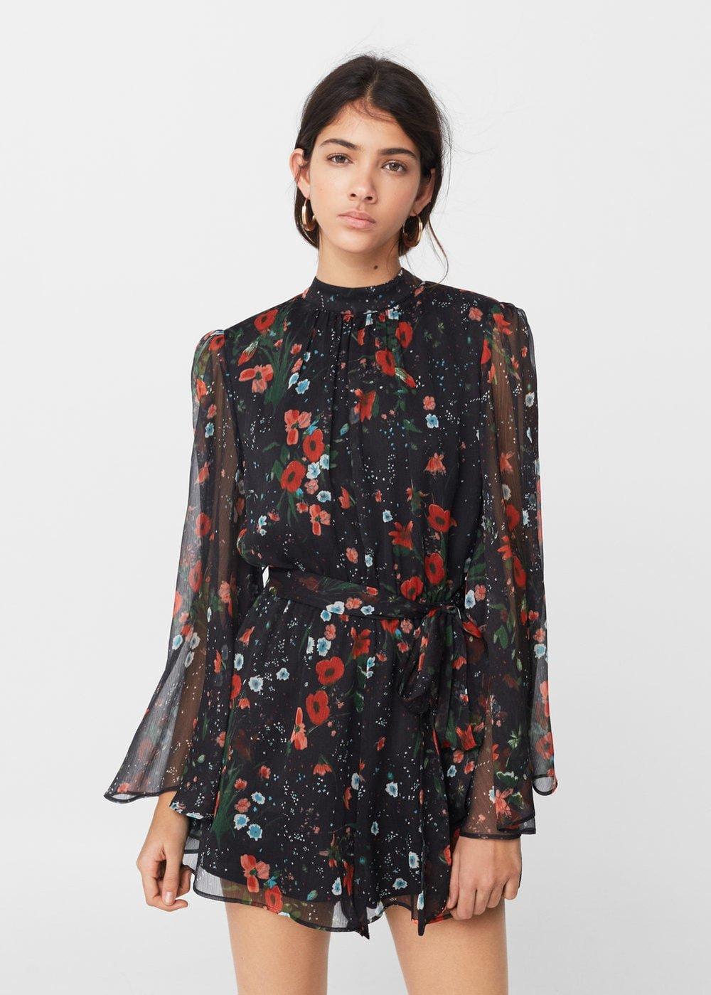 Mango: floral short jumpsuit, £59.99