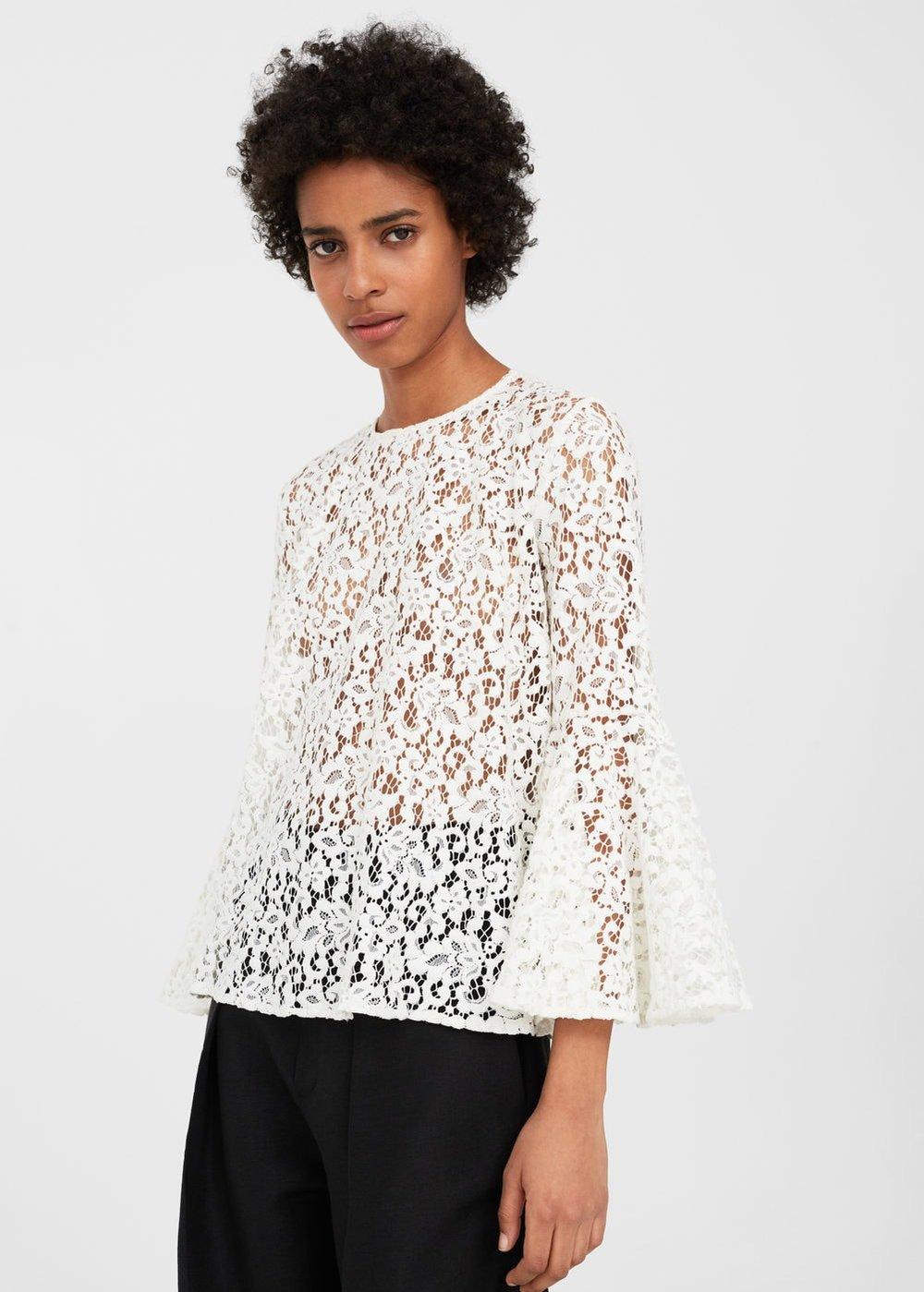 Mango: lace blouse, £49.99